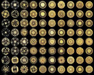 Large range of different frequencies shown visually through the science of Cymatics.
