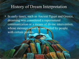 the history of dream interpretation